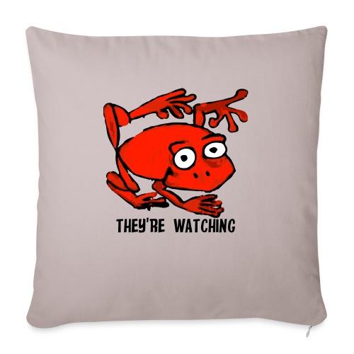 red frog - Cuscino da divano 44 x 44 cm con riempimento