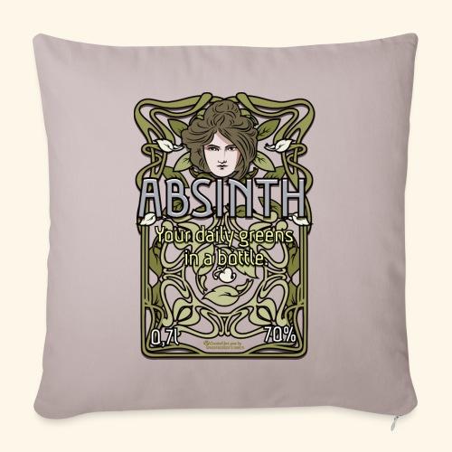 Absinth Your Daily Greens in a Bottle Art Nouveau - Sofakissen mit Füllung 44 x 44 cm