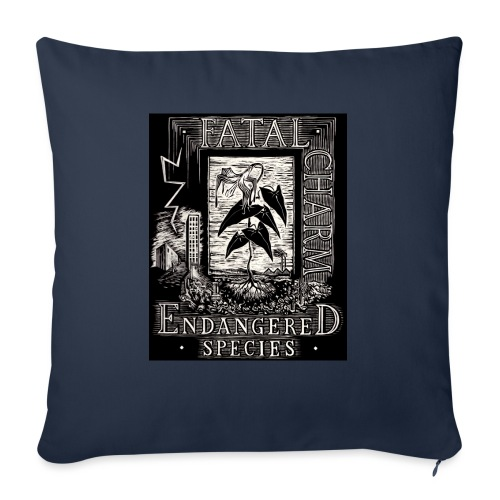 fatal charm - endangered species - Sofa pillow with filling 45cm x 45cm