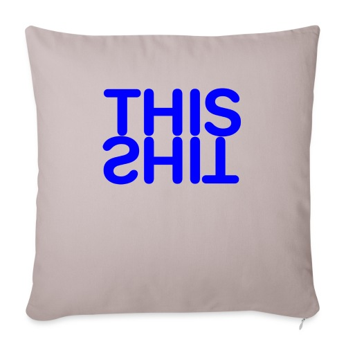 THIS Blue - Cojín de sofá con relleno 44 x 44 cm