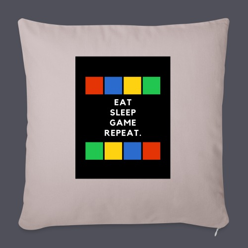 Eat, Sleep, Game, Repeat T-shirt - Sofa pillow with filling 45cm x 45cm