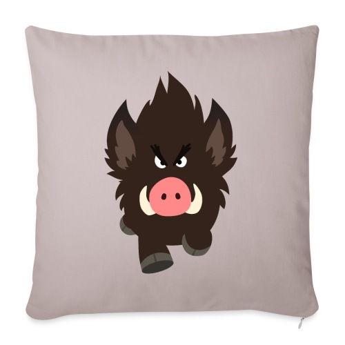 Charging Cartoon Wild Boar by Cheerful Madness!! - Sofa pillow with filling 45cm x 45cm