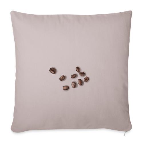Miłośnik kawy - Ziarna kawy - Poduszka na kanapę z wkładem 44 x 44 cm