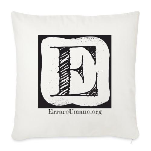 Logo ErrareUmano (scritta nera) - Cuscino da divano 44 x 44 cm con riempimento
