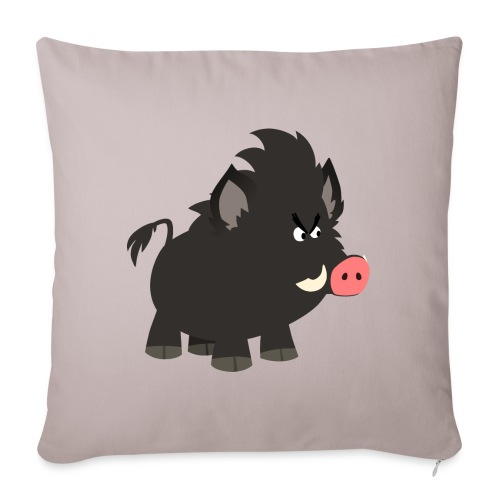 Grumpy Cartoon Wild Boar by Cheerful Madness!! - Sofa pillow with filling 45cm x 45cm