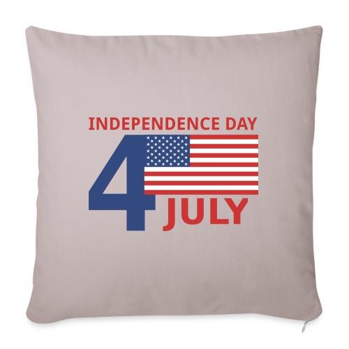 4 luglio giorno della indipendenza - Cuscino da divano 44 x 44 cm con riempimento