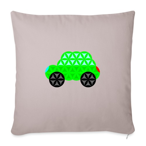 The Car Of Life - M01, Sacred Shapes, Green/R01. - Sofa pillow with filling 45cm x 45cm