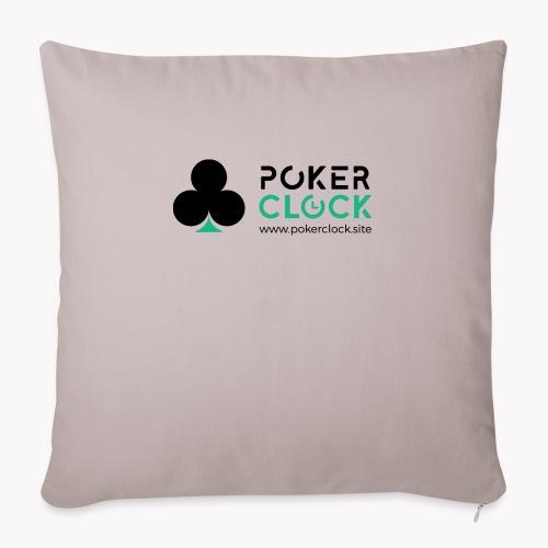 Poker Clock Logo - Sofakissen mit Füllung 44 x 44 cm
