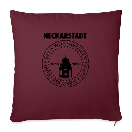 Neckarstadt Blog seit 2014 (Logo dunkel) - Sofakissen mit Füllung 44 x 44 cm