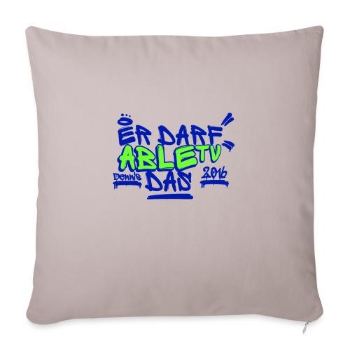 AbleTV Grafitti Logo Marken Shirt (Er Darf Das) - Sofakissen mit Füllung 44 x 44 cm