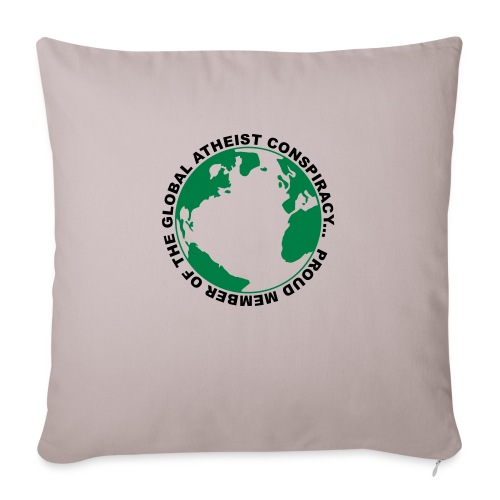 Global Atheist Conspiracy - Sofa pillow with filling 45cm x 45cm