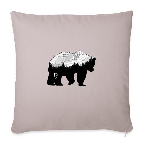 Geometric Mountain Bear - Cuscino da divano 44 x 44 cm con riempimento