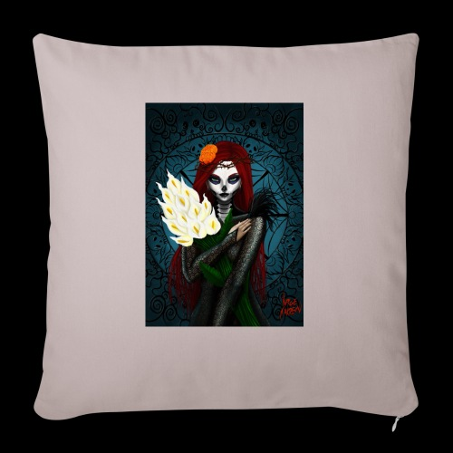 Death and lillies - Sofa pillow with filling 45cm x 45cm