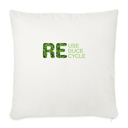 REuse REduce REcycle - Cuscino da divano 44 x 44 cm con riempimento
