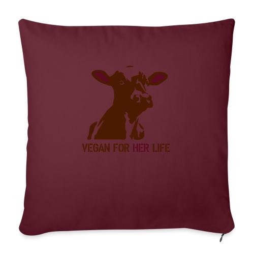 vegan for her life - Sofakissen mit Füllung 44 x 44 cm