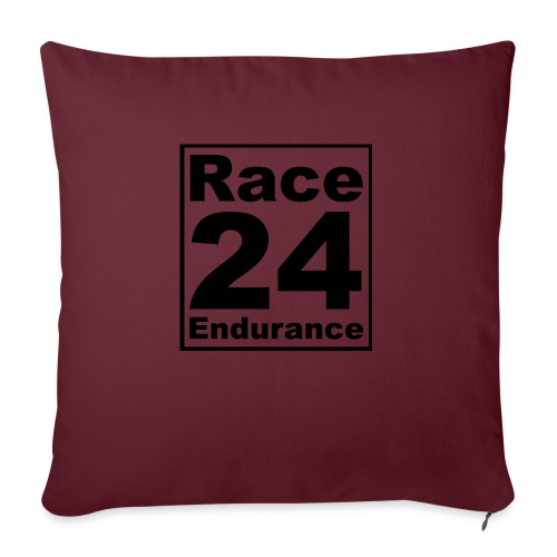 Race24 logo in black - Sofa pillow with filling 45cm x 45cm