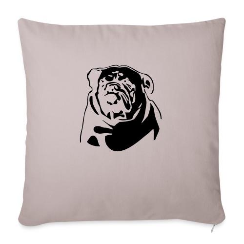 English Bulldog - negative - Sohvatyynyt täytteellä 44 x 44 cm