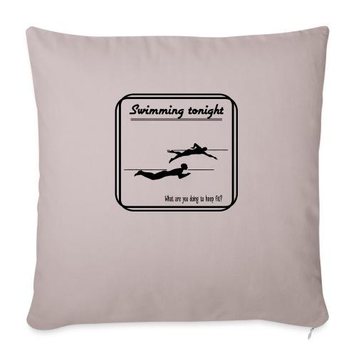 Swimming tonight - Sohvatyynyt täytteellä 44 x 44 cm