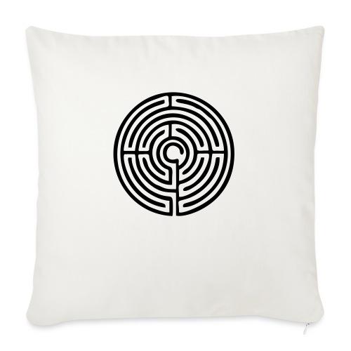 Labyrinth Schutzsymbol Lebensweg Magie Mystik - Sofakissen mit Füllung 44 x 44 cm