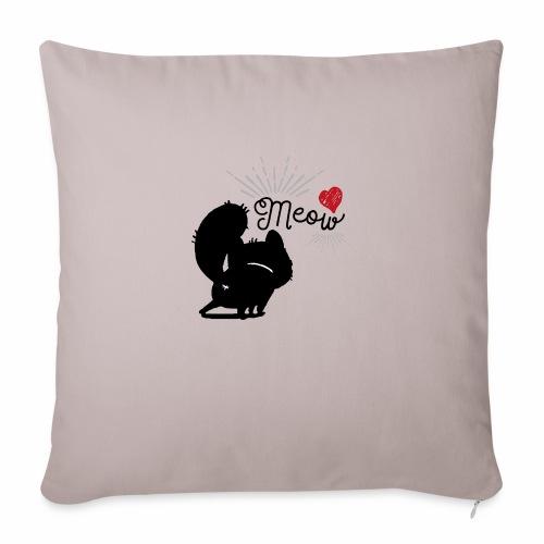 gatto meow - Cuscino da divano 44 x 44 cm con riempimento