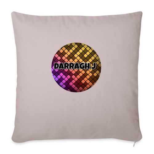 Darragh J logo - Sofa pillow with filling 45cm x 45cm