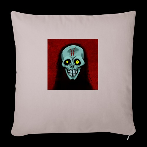 Ghost skull - Sofa pillow with filling 45cm x 45cm