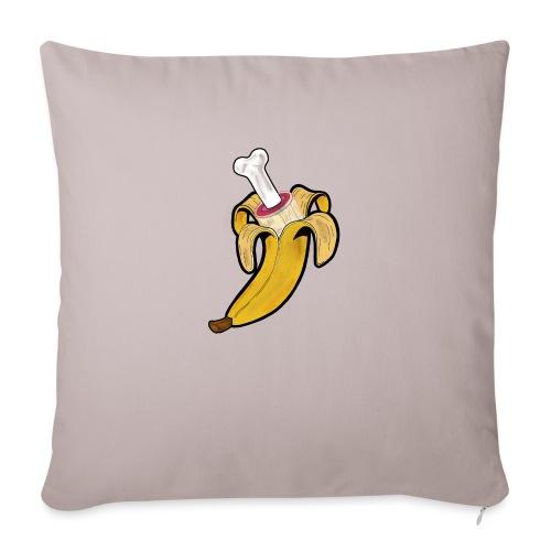 Die zwei Gesichter der Banane - Sofakissen mit Füllung 44 x 44 cm