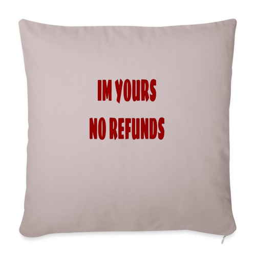 Im yours red - Soffkudde med stoppning 44 x 44 cm