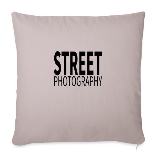 Street photography Black - Cuscino da divano 44 x 44 cm con riempimento