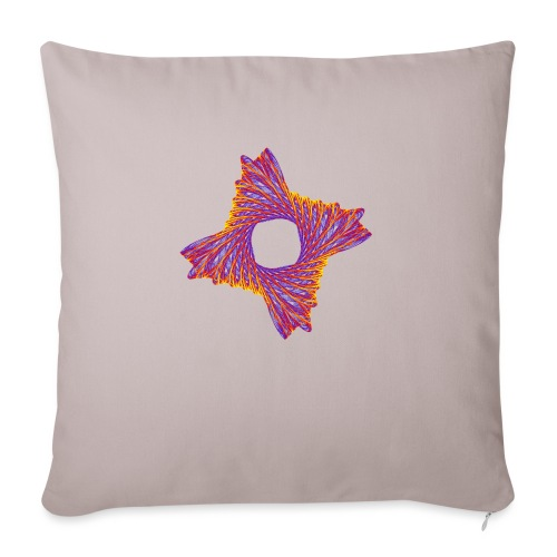 rotating life fire 12162bry - Sofa pillow with filling 45cm x 45cm