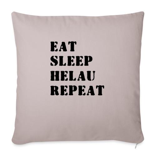 Eat Sleep Repeat - Helau VECTOR - Sofakissen mit Füllung 44 x 44 cm