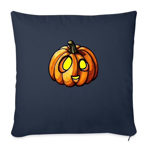 Pumpkin Halloween watercolor scribblesirii - Sofapude med fyld 44 x 44 cm