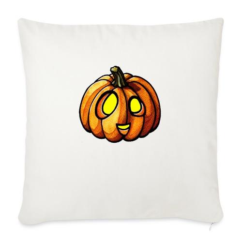 Pumpkin Halloween watercolor scribblesirii - Sofa pillow with filling 45cm x 45cm