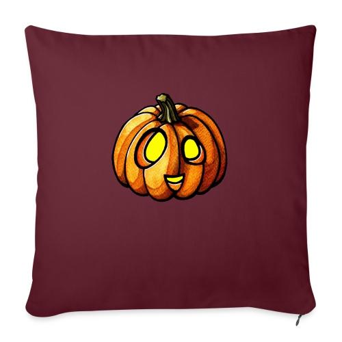 Pumpkin Halloween watercolor scribblesirii - Sohvatyynyt täytteellä 44 x 44 cm