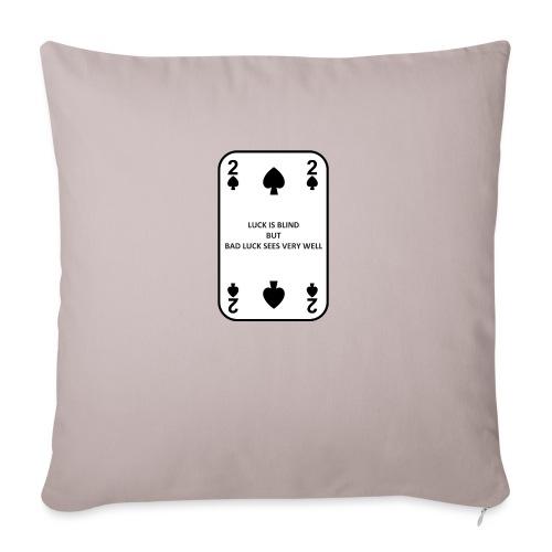 2 di picche - Cuscino da divano 44 x 44 cm con riempimento