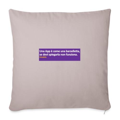 barzelletta - Cuscino da divano 44 x 44 cm con riempimento