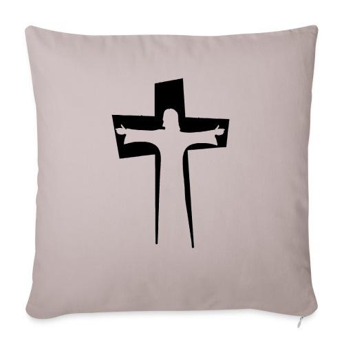 Abstrakt Jesus på korset - Soffkudde med stoppning 44 x 44 cm