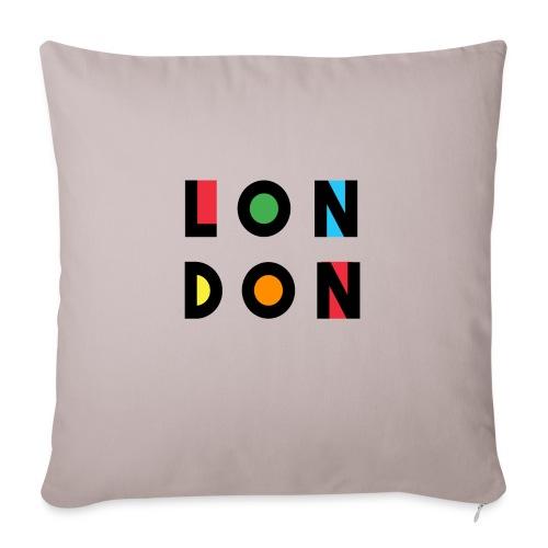 Vintage London Souvenir - Retro Modern Art London - Sofakissen mit Füllung 44 x 44 cm