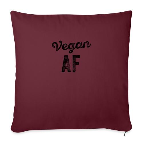 Grappige Vegan AF Vegetarisch - Bankkussen met vulling 44 x 44 cm