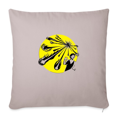 Yellow Meteor Shower Scream - Sofa pillow with filling 45cm x 45cm