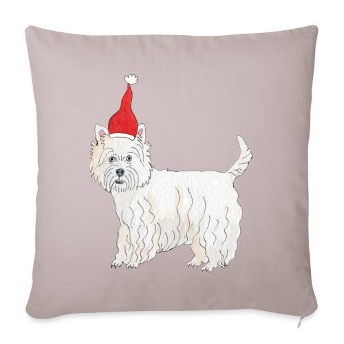 West Highland White Terrier Christmas - Sofapude med fyld 44 x 44 cm