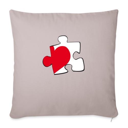 HEART 2 HEART HIS - Cuscino da divano 44 x 44 cm con riempimento