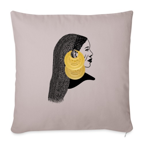 Girl with القمر بوبا earrings - Sofa pillow with filling 45cm x 45cm