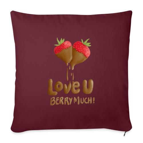 Love U berry much - Soffkudde med stoppning 44 x 44 cm