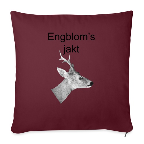 Officiell logo by Engbloms jakt - Soffkudde med stoppning 44 x 44 cm