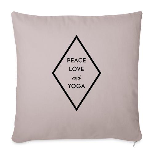 Peace Love & Yoga - Sofakissen mit Füllung 44 x 44 cm