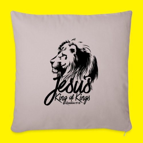 JESUS - KING OF KINGS - Revelations 19:16 - LION - Sofa pillow with filling 45cm x 45cm