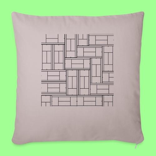 TENISOWY WZÓR - Poduszka na kanapę z wkładem 44 x 44 cm