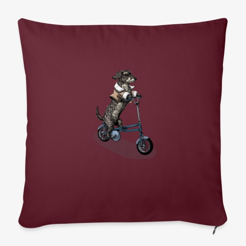 Dog Cyclist - Sofa pillow with filling 45cm x 45cm