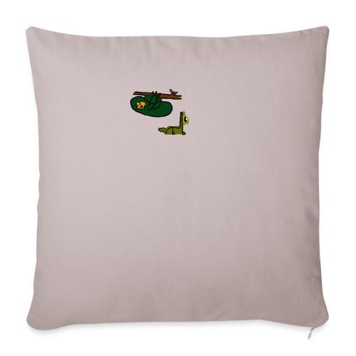 Sloth + Llama - Sofa pillow with filling 45cm x 45cm